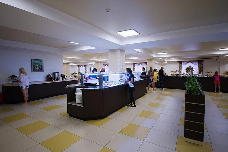 Отель Санмаринн 4* (всё включено) в Анапе: ресторан шведский стол
